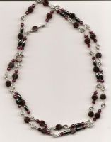 gothy garnet drape necklace by DonaIvanova