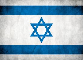 Israel Grungy Flag by think0