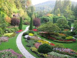 Butchart Gardens 1 by Ink--It
