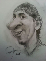 Caricature of Lionel Messi by Afrim1968