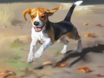 A beagle by mozgomoika