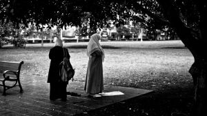 Prayer-time in the park. by kiTrout