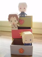 APH papercraft: Bad Touch Trio by Demmi-chan