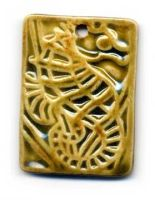 Seahorse Ceramic Pendant by ChinookDesigns