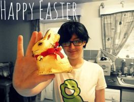 John Eggbert and the Chocolate bunny by Mollymoo22