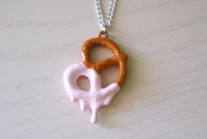 Pretzel Necklace by MonsterBrandCrafts