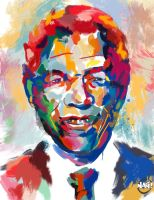 Nelson Mandela by Paganflow