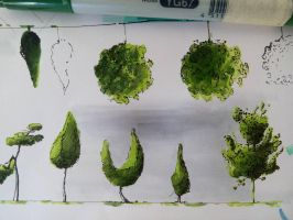 Copic trees by Odrahlag
