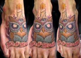 owl tattoo by bhbettie