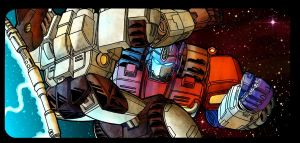 Optimus Prime vs Megatron by Blueshift2k5