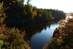 .St Croix River in Autumn. by decayedroses