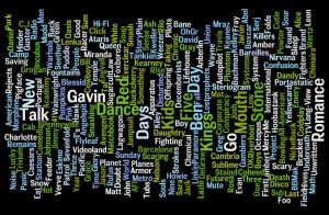 Zune Artists Word Cloud by krazy3