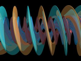 Spiral isosurface II by Mershell