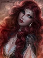 Elsbeth Portrait By Denahelmi by aetheldeviant