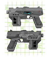 Double Lawgiver Schematic Vector by strangelysaucy