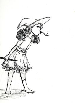 Inktober - Rasperry Witch by redhood14