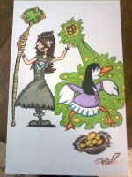 Ivy Zapping Lois Lane into a goose commission by XxPohGoxX