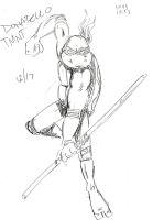 Donatello 10 Minute Sketch by MonkeySquadOne