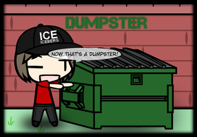 My custom walfas prop - Dumpster (X2) by Rumiflan
