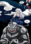 Killer Frost and King Shark III by adamantis