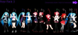 MMD ~ Pose Pack 3 ~ Download by Tuany-Neko-Daisuki