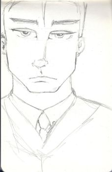 Male Face Sketch by bySeri