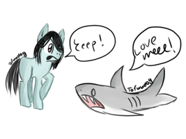 Scared of sharks by tofuudog