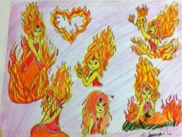 flame princess sketch dumb by ninammm1