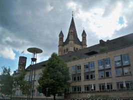 Gross St. Martin, Cologne by wolfman-al
