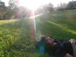 At the park, at sun down by AnnabellaTMIID