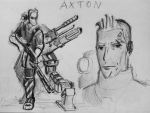 Sketches Axton by spaceMAXmarine