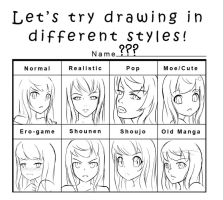 Quick Sketch - Style Meme by Rinine