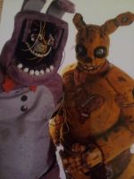 withered Bonnie and springtrap closeup by cannibalvegan