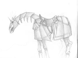 Necromancer Horse by Piano-and-Art