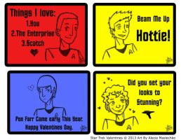 Star Trek Valentines by corazongirl