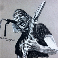 Charcoal Drawing - Zack Hansen (The Word Alive) by ThrowYourRoses
