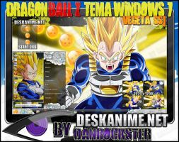 Vegeta SSJ Theme Windows 7 by Danrockster