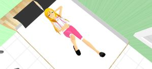 mmd Laying Down pose by MikuMD