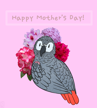 Mother's Day Bird Card by QueenSoulWing