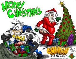 Merry Christmas from Cowman by OuthouseCartoons