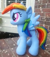 Rainbow Dash Plush v.3 by MintyStitch