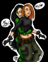 kim and shego - gotcha by clytie