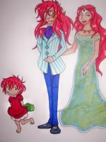 Ponyo and Family by Tilly-Vally