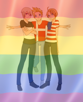 LGBT Pride Edit Awesome Trio by SCKwrites