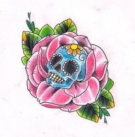 Sugarskull rose by Kirzten