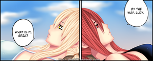 lucy and erza FT manga 298 by pollo1567