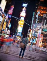 Alone in Times Square by SebKaiser