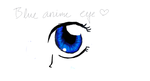 Blue anime eye by HanifaMiku