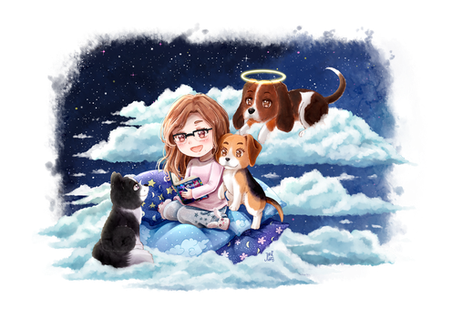 Commission: Ariadna, Audrey, Vera and Woody by NaiLyn