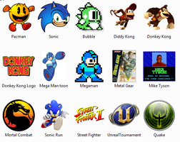NES Video Game Windows Icons by sjg2008